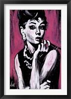 Framed Audrey Hepburn-Fabulous