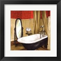 Framed Red Farmhouse Bath II