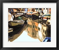 Framed Burano Boats