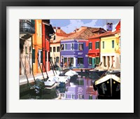 Framed Burano Village
