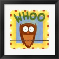 Whoo Framed Print
