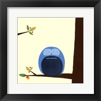 Framed Orchard Owls I