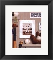 Framed Baseball 36
