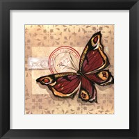 Framed Le Papillon I