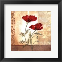 Framed Red Poppies I
