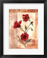 Framed Red Poppies III