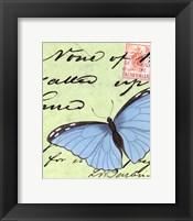 Le Papillon Script III Framed Print