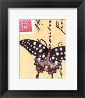 Le Papillon Script IV Framed Print