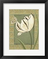 Framed Ivory Tulip II
