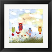 Owl Land Framed Print