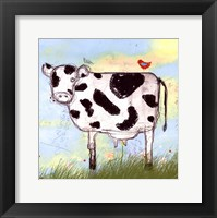 Moo Land Framed Print
