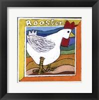 Framed Whimsical Rooster
