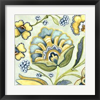 Framed Decorative Golden Bloom III