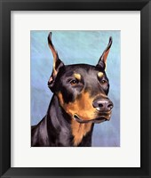 Framed Dog Portrait-Dobie