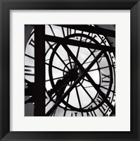 Framed Paris clock II