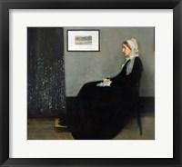 Framed Whistler's Mother