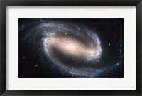 Framed Barred Spiral Galaxy