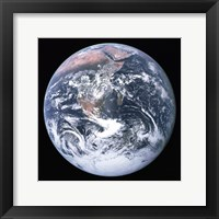 The Earth seen from Apollo 17 Framed Print