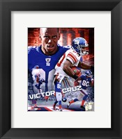 Framed Victor Cruz 2012 Portrait Plus