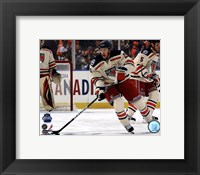 Framed Derek Stepan 2012 NHL Winter Classic Action