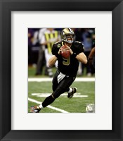 Framed Drew Brees 2011 NFC Wild Card Playoff Action