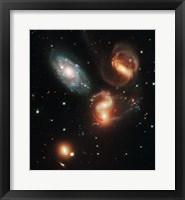 Galactic Wreckage Framed Print