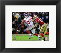 Framed Eli Manning NFC Championship Game Action