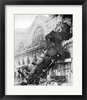Framed Train Wreck at Montparnasse 1895
