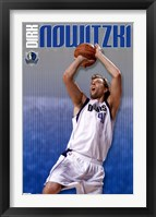 Framed Mavericks - D Nowitzki 11