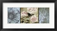 Framed Pink Hydrangeas Panel II