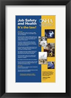 Framed OSHA Job Safety and Health Version 2012