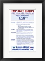 Minimum Wage 2012 Framed Print