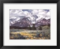 Framed Rocky Mountain Peaks