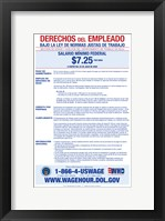 Minimum Wage Spanish Version 2012 Framed Print