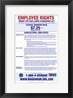 Agricultural Employees Minimum Wage Framed Print