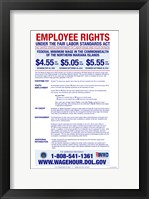 Federal Minimum Wage of the Northern Mariana Islands 2012 Framed Print