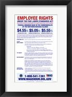 Federal Minimum Wage of the Northern Mariana Islands 2012 Framed Print