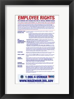 Employee Rights for Workers with Disabilities Minimum Wage 2012 Framed Print