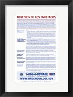 Employee Rights for Workers with Disabilities Minimum Wage Spanish Version 2012 Framed Print