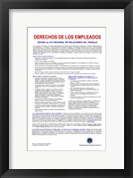 Employee Rights Spanish Version Framed Print