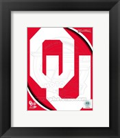 Framed University of Oklahoma Sooners Team Logo