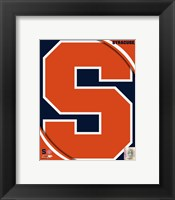 Framed Syracuse University Orangemen Team Logo