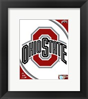 Framed Ohio State University Buckeyes Team Logo