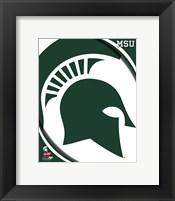Framed Michigan State University Spartans Team Logo