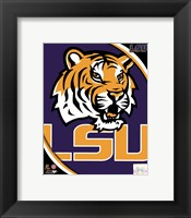 Framed Louisiana State University Tigers Team Logo