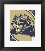 Framed University of Pittsburgh Panthers Team Logo