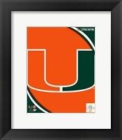 Framed University of Miami Hurricanes Team Logo