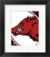 Framed University of Arkansas Razorbacks Team Logo
