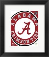 Framed University of Alabama Crimson Tide Team Logo