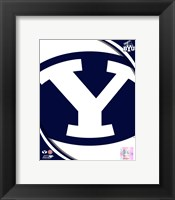 Framed Brigham Young University Cougars Team Logo